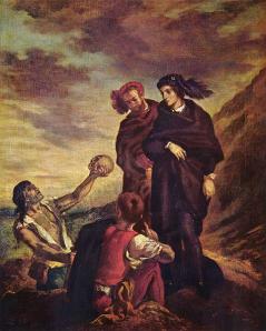 """""""¡Quillo cabesa!"""" o """"Hamlet und Horatio auf dem Friedhof"""". Delacroix, E., 1839"""